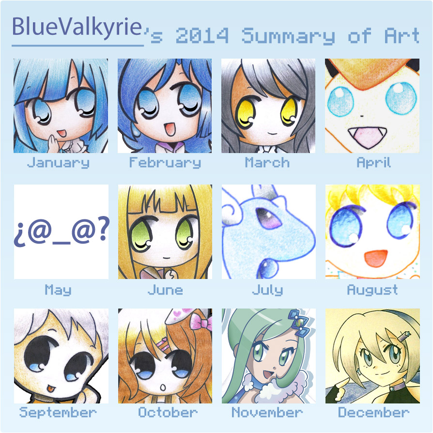 2014 art summary meme by BlueValkyrie