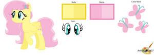 Fluttershy New hair style (Refance sheet) by ArtistGirl0007