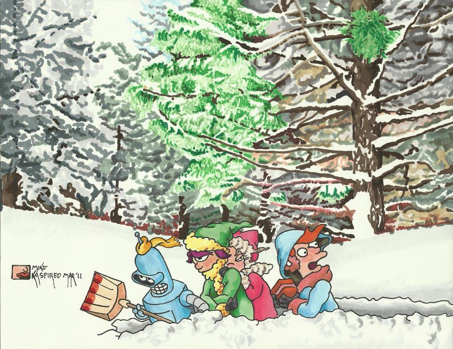 Snowbound by kaspired