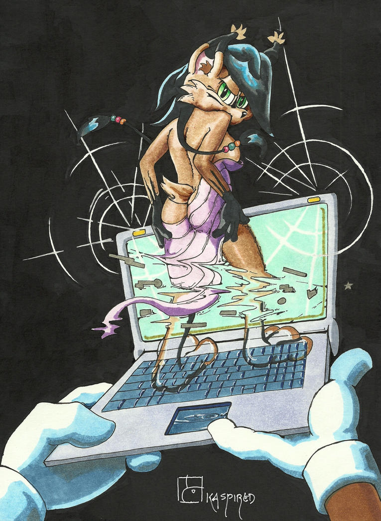 Laptop Dance by kaspired