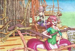 Miia and Mero Illustrated by kaspired