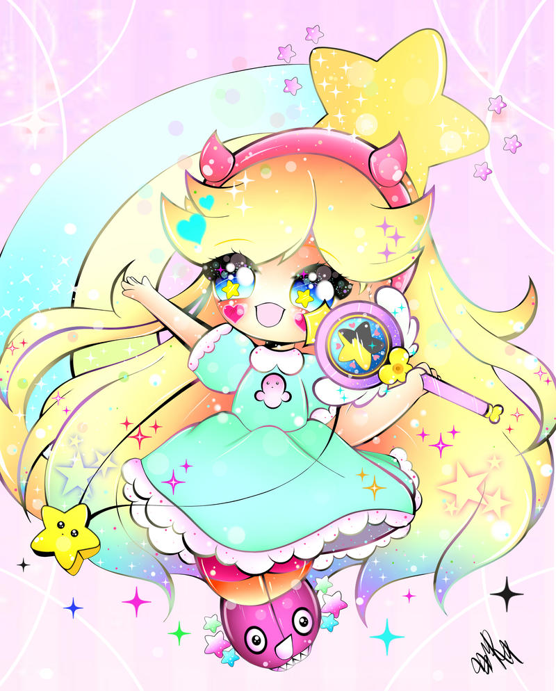 Star Butterfly Chibi by xxMiniPandaxx