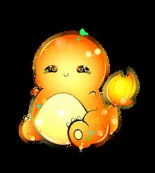 Chubby Charmander ((Acrylic Keychain Design)) by xxMiniPandaxx