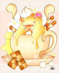 Caramel Latte Chibi by xxMiniPandaxx