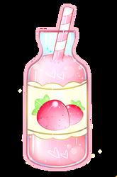strawberry flavor ((Acrylic Keychain Design)) by xxMiniPandaxx