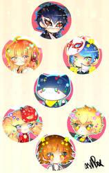 Persona5 Button Set by xxMiniPandaxx