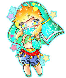Link in Gerudo Outfit ((Acrylic Keychain Design))