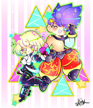 Lio and Galo Chibi's ((Acrylic Keychain Design))