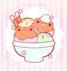 Ice Cream Froggies ((Enamel Pin Design))
