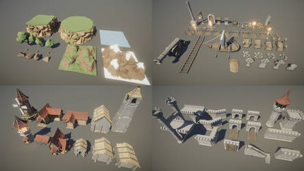 Low Poly Modular Castle Asset Pack - WIP