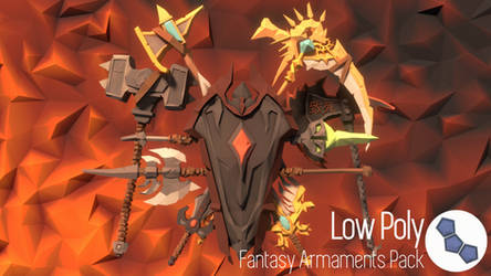 Preview of my Low Poly Armaments Pack, out now!