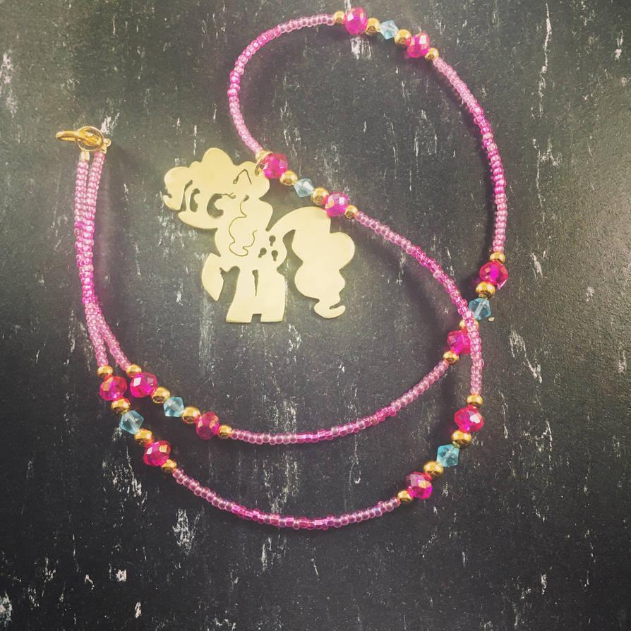 Brass Pendant My Little Pony Pinkie Pie by EpicLootz