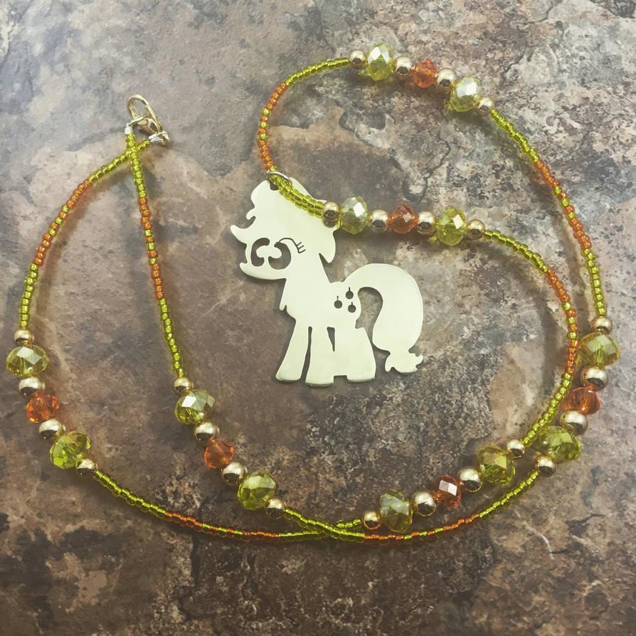 Brass Pendant My Little Pony Applejack by EpicLootz