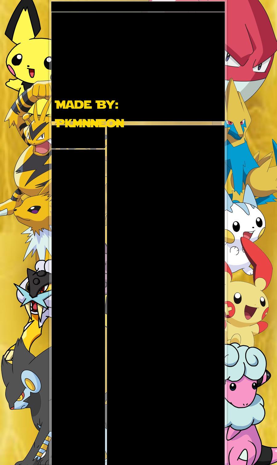 Electric Pokemon Background by PkmnNeon on DeviantArt