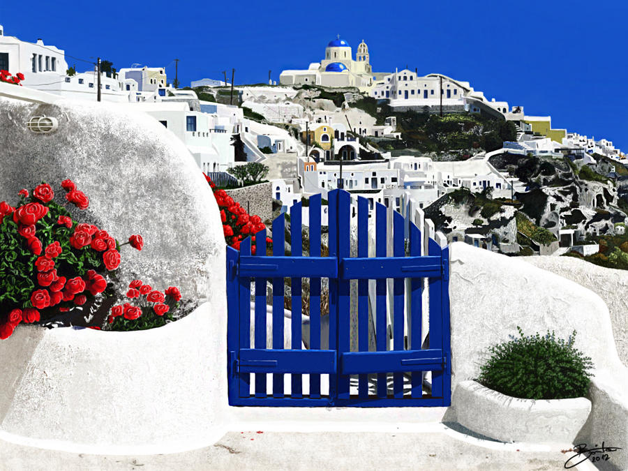 Santorini, Greece - Cyclades islands by LucaDeBoa
