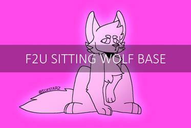 F2U Sitting Wolf Base By Leopard167andicestar
