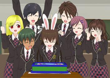 Happy Birthday Dragoshi and Bunny by Afnan-kun
