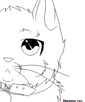 Warrior cat kit coloring pages