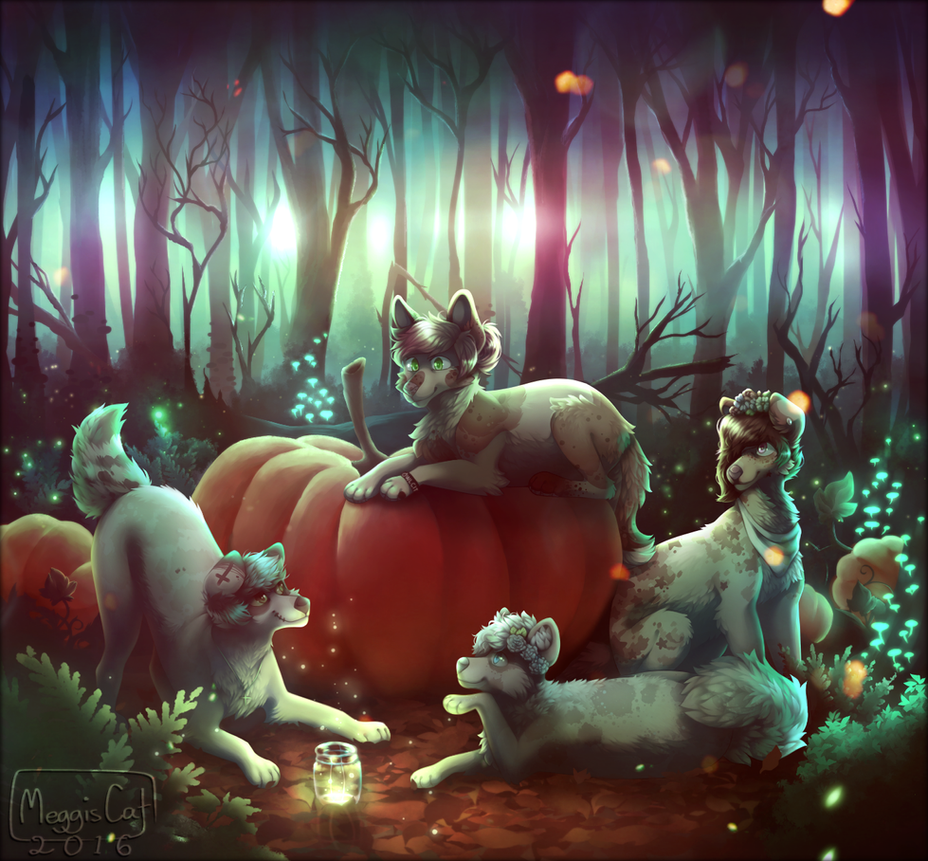 Pumpkin Party by MeggisCat