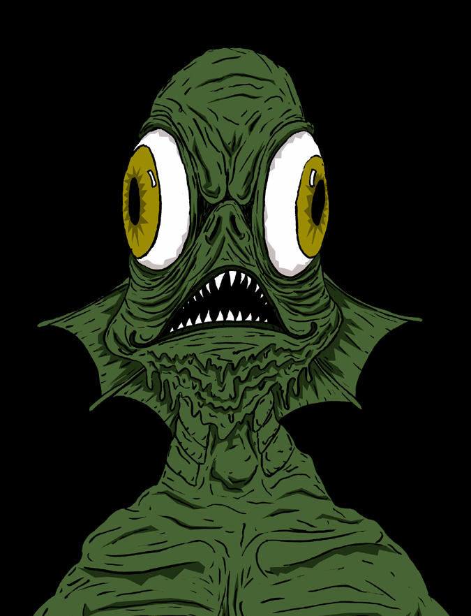 Gill Man Now in Color by smurfwreck
