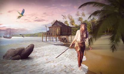 pirate woman by gecemavisipixels