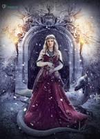 Queen and Snow Dragon by gecemavisipixels