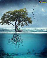 Blue Dreams by gecemavisipixels