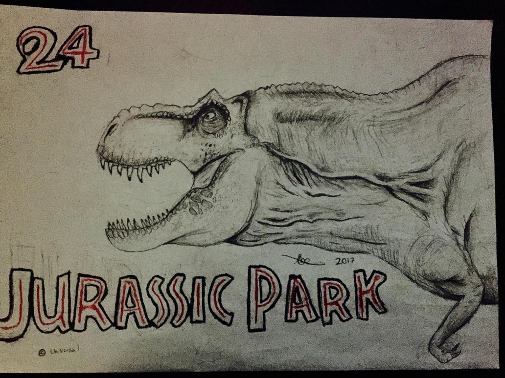 30 Days of Dinosaurs: Jurassic Park 24 Anniversary by CoelurosaurianArtist