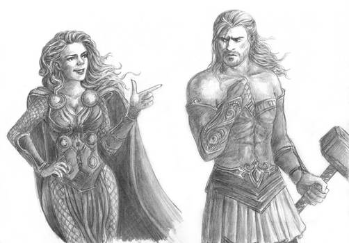 Amora and Thor - clothes swap