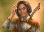 Bard portrait by wayleri