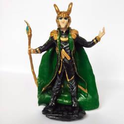 Loki (polymer clay figure) by wayleri