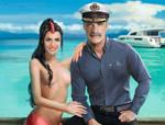 Mermaid Katy and Her Captain by wayleri