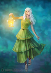 Triaska - Green Dress
