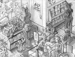 Comics + Coffee -Isometric