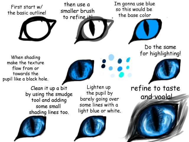 realistic feline canine eye tutorial by imaginer fox on deviantart