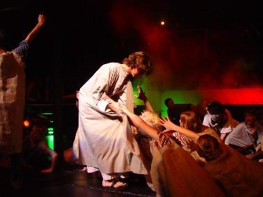 Lepers ask Jesus by pomboynz