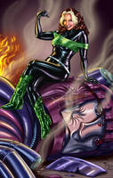 Rogue -80's Black Green Outfit by ArcosArt