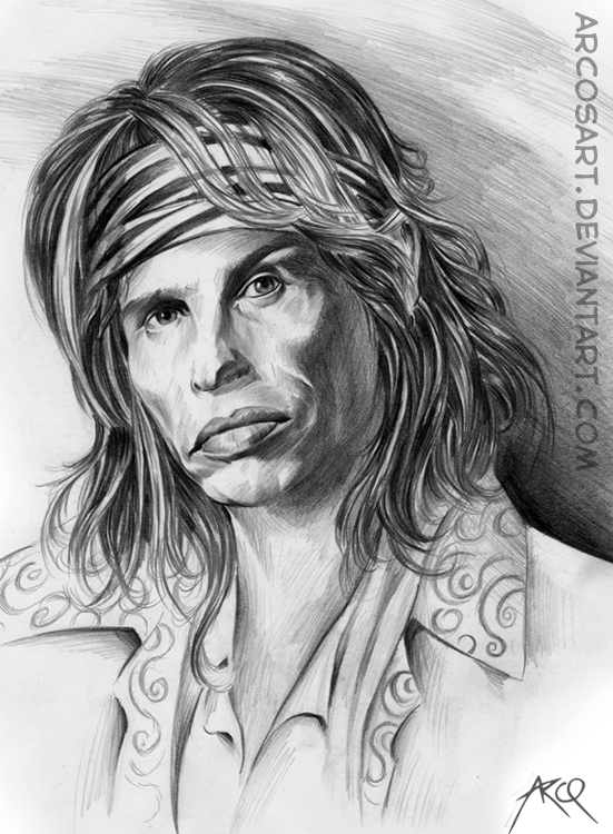 Steven Tyler Of Aerosmith By Arcosart On Deviantart