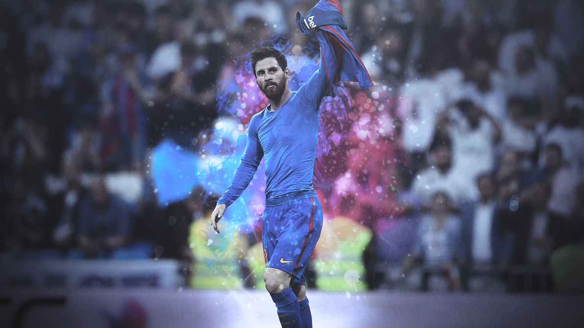 Lionel Messi Hd Background Iconic Celebration By E Zaf