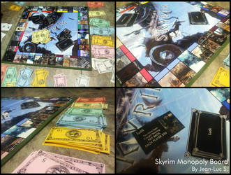 Skyrim Monopoly Board by wasteguru