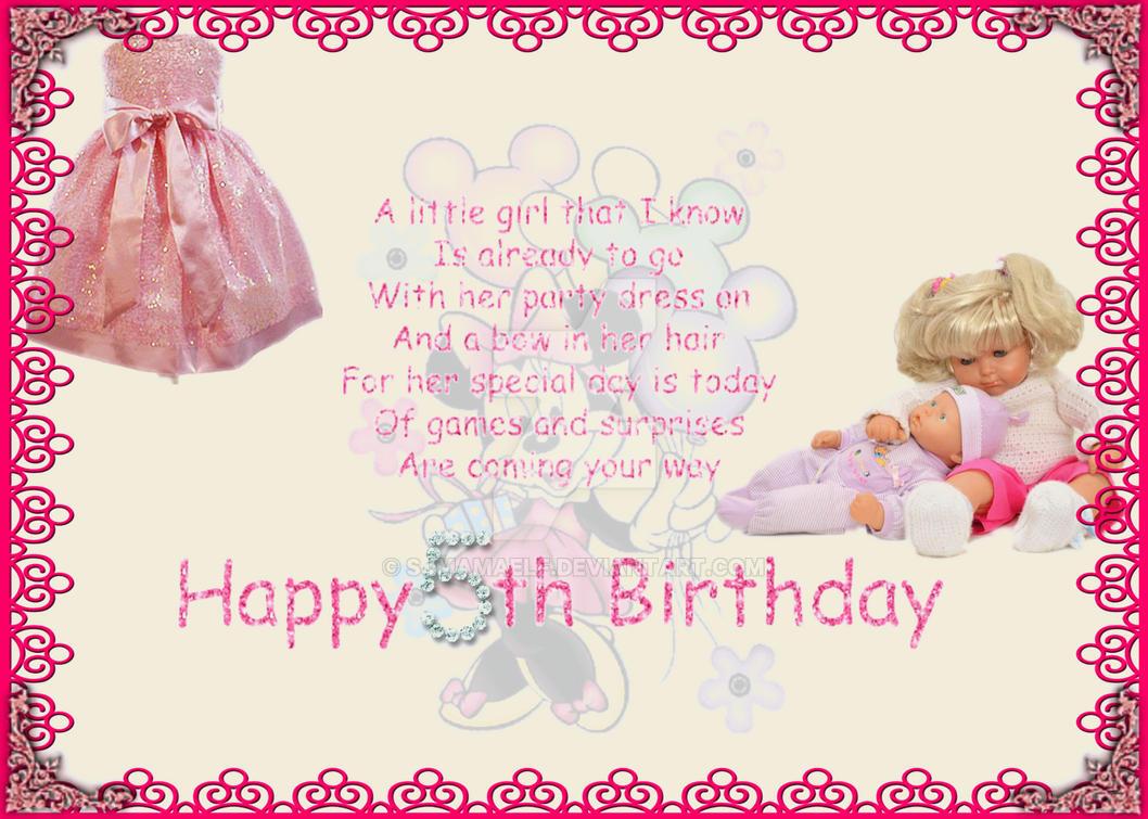 Happy 5th Birthday For Girl By Sjmamaelf On Deviantart