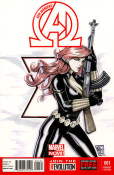 Black Widow Blank Cover by ColletteTurner