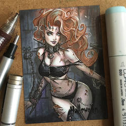 Zombie Art Card by ColletteTurner