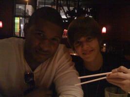 Justin bieber and Usher by xxaliyaxx