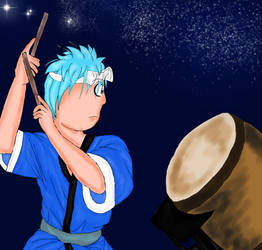 Hoshu the Taiko Drummer Finished