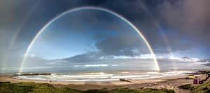 Rainbow on the coast  in Mar del Plata