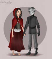 Day 10- Red and Frankenstein by TheCarmiBug