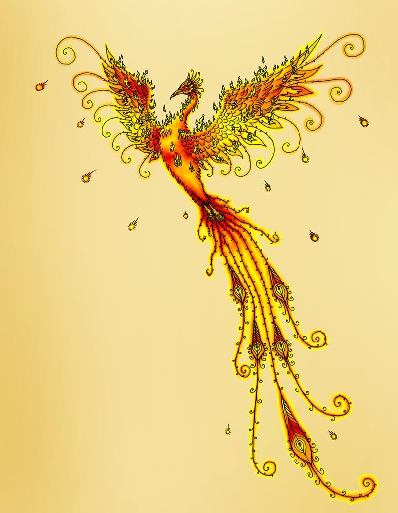 phoenix tattoo by thejasminedragon on deviantart. Black Bedroom Furniture Sets. Home Design Ideas
