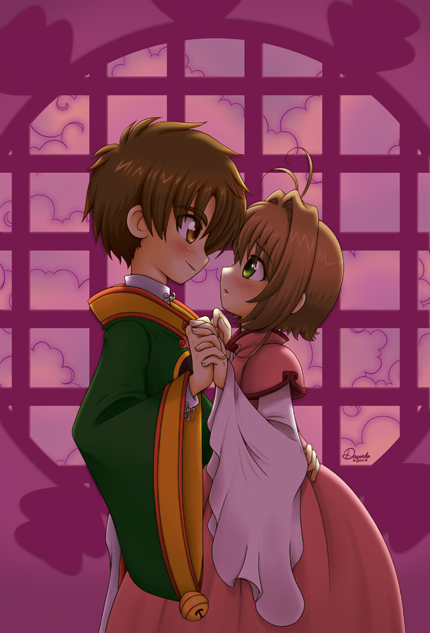 Syaoran and Sakura by Danime-chan