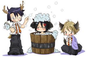 Sirius bath -nyahaha- by Danime-chan